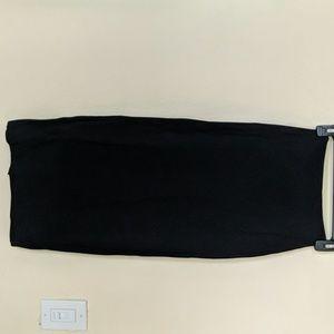 Aritzia babaton black midi skirt